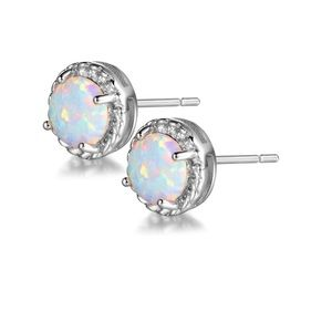 Sterling silver and real opal earrings